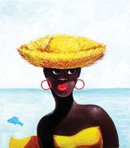 Modelo con Sombrero   30¨x ·32¨   US$1.000.00