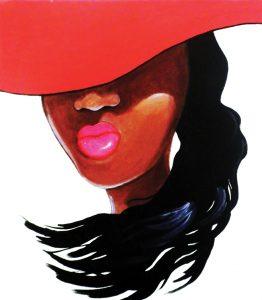 Mujer con sombrero 30¨x ·32¨